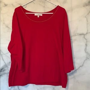 Red company by Ellen Tracy 2x top